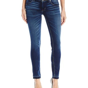 Hudson Jeans Women's Collin Midrise Super Skinny With Relased Hem Flap Pocket Jean, Pin Point, 27