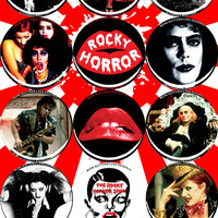 "MEDIUM 2.25"" BLITZKRIEG BUTTONS - ROCKY HORROR PICTURE SHOW - M76"