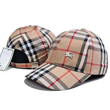 LMFUP0 Burberry Fashion Embroidery Adjustable Travel Hat Sport Cap1