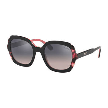 Prada Square Mirrored Acetate Sunglasses