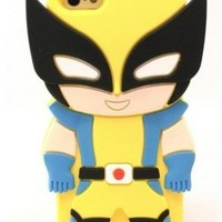 W Mall® 3D Cartoon Batman superheros series Soft Silicone Case Skin Cover for Apple iPhone 5 5s US Seller (Wolverine)