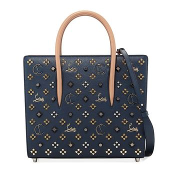 Gold Stud Leather Tote Bag by Christian Louboutin