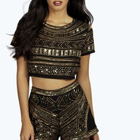 Boutique Mya All Over Hand Beaded Shorts
