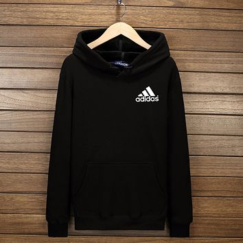 """Adidas"" Women Men Fashion Hooded Top Pullover Sweater Sweatshirt Hoodie Black I-YSSA-Z"