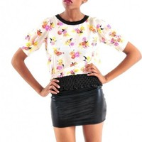 Floral Silk Blouse - Diva Hot Couture