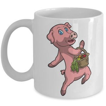 This little pig went to market Inspirational Christmas Story Cup - Cute Fairy Tale Gifts - 11 oz Mug For Hot Cocoa, Coffee, Tea & Pencils!