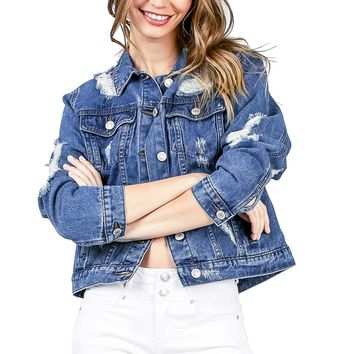 Mischief Distressed Denim Jacket