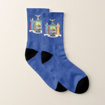 All Over Print Socks with Flag of New York
