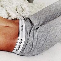 Calvin Klein  Print Stretch Trousers Pants Sweatpants