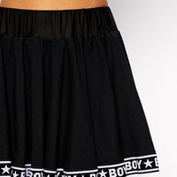 Boy London Mini Skater Skirt With Tape Detail Co-ord