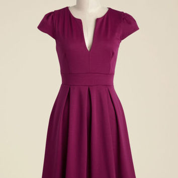 Meet Me at the Punch Bowl A-Line Dress in Berry | Mod Retro Vintage Dresses | ModCloth.com