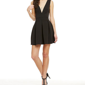 Alythea V-Neck Skater Dress | Dillards