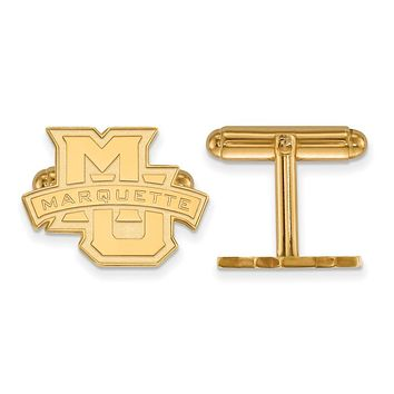 NCAA 14k Gold Plated Silver Marquette University Cuff Links