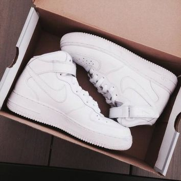 NIKE Women Men Running Sport Casual Shoes Sneakers Air force high tops and Low help shoes HIGH QUALITY H