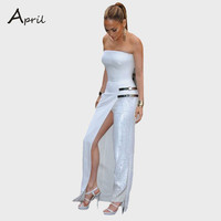 new fashion celebrity style women's backless jumpsuits ladies sexy rompers pants bodysuits elegant white jumpsuit for women