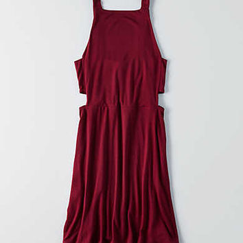 AEO Side Bar Fit & Flare Dress , Burgundy