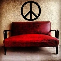 Wall Decal Sticker Peace Sign Logo Hippie World People Living room v56