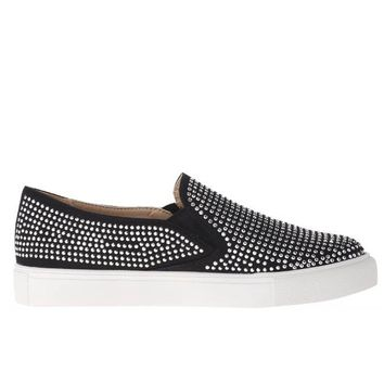 Wanted Shea - Black Studded Slip-On Loafer Sneaker