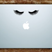 Eyelashes V2 Laptop Apple Macbook Car Quote Wall Decal Sticker Art Vinyl Inspirational Beauty Guru Make Up Lashes