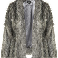 Tinsel Faux Fur Coat