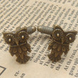 Steampunk Owl Cuff Links Vintage Style Original by sallydesign