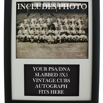 0900c2bba Framed Display for your vintage CHICAGO CUBS PSA 3x5 Autograph (
