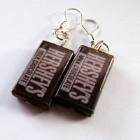 Hershey's Chocolate Earrings by KitschBitchJewellery on Etsy