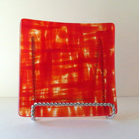 Dinning and Entertaining, Fused Glass Dish, Red and Hot, Home Decor, Statteam