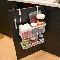 New Practical Cabinet Basket Carbon Steel Hanging Racks for Spices Bottle Kitchen Storage Shelf Drawer Door Hanger