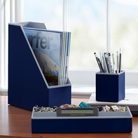 Preppy Paper Desk Acc - Solid Navy