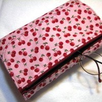 Paperback Book Cover w/zipper pouch - Cherries | CharSpirit - Paper/Books on ArtFire