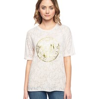 Serena Floral Burnout Knit Tee by Juicy Couture