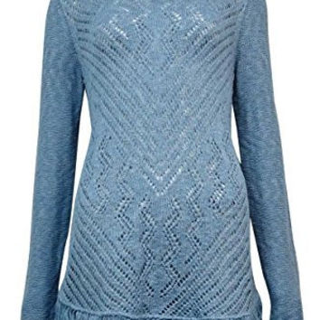 Style & Co. Women's Sheer Crochet Tunic Sweater