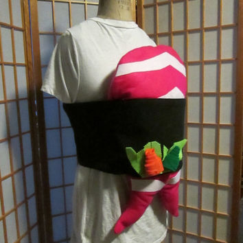 Adult Sushi Costume, Funny, Premade- ready to order! Shrimp halloween costume! Ready to ship!
