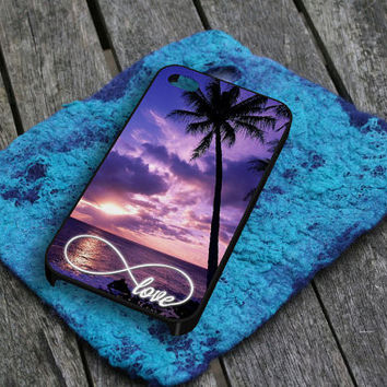 Infinity of Love 1 iPhone 5 iPhone 4 / 4S Plastic Hard Case Soft Rubber Case
