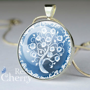 tree pendant charm,tree resin pendants,tree jewelry pandent- D0852CP
