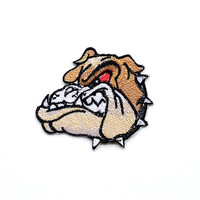 Bull Dog Applique Iron on Patch
