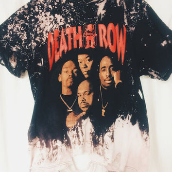 DISTRESSED BLEACHED Tee - Death Row Records