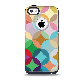 Overlaping Colorful Connect Circles Skin for the iPhone 5c OtterBox Commuter Case