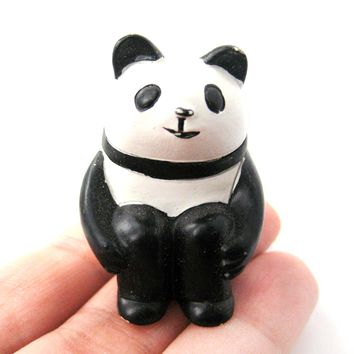 Adorable Panda Animal Hand Painted Figurine Paperweight | Home Decor