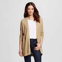 Women's Long Cardigan with Stitch Interest - U-Knit