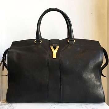 DCCKG2C YSL Black Cabas Large Handbags