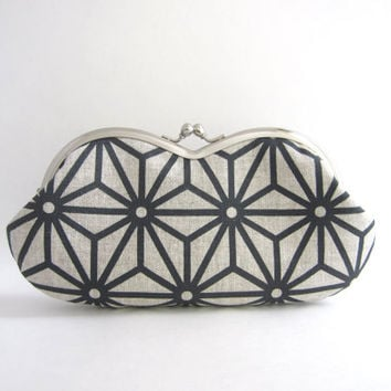 Sunglasses / Eyeglass Case - Charcoal Star Print by Piano Nobile