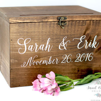 Wood Wedding Card Box with Lid - WS-230