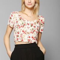 Lucca Couture Cross-Back Chiffon Cropped Top - Urban Outfitters