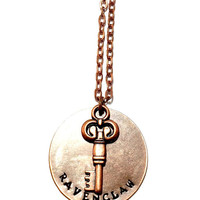 Ravenclaw Metal-stamped Key Necklace