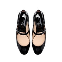 BLOCK HEEL BALLERINA - Flats - Shoes - Woman | ZARA United States