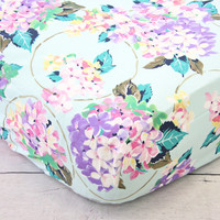 Holly's Hydrangea Ruffle Baby Bedding   Pastel Pink Blue Lavender Crib Sheets