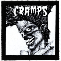 Cramps Bad Music For Bad People Cloth Patch Black