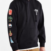 Stussy World Tour Flags Pullover Hooded Sweatshirt